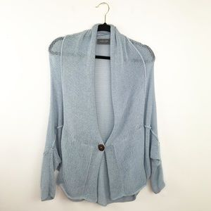 Wooden ships blue knit slouchy cardigan